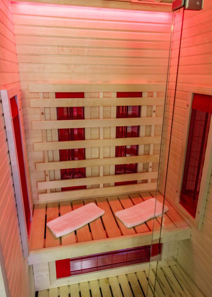 Infrared sauna klefi